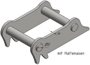 Geel SW020 mit Haltenasen (15mm)