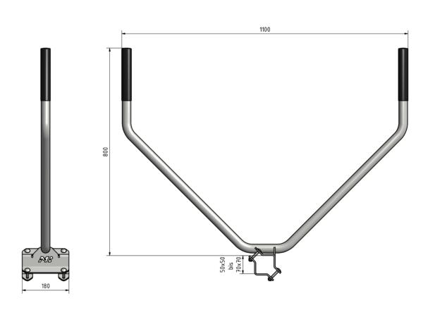 ergoRang - ergonomische Rangierhilfe - Abmessungen