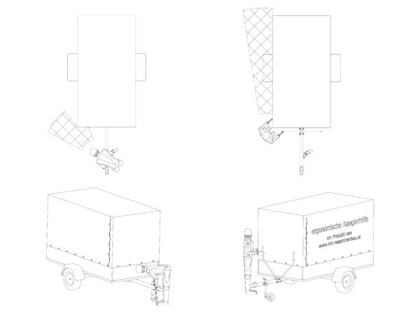 ergoRang- ergonomische Rangierhilfe - Vergleich des Sichtfeldes