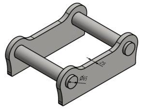 Geel SW035 ohne Haltenasen (25mm)